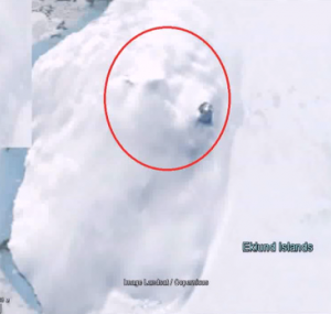 Россиянин нашел гигантский звездолет вольдах Антарктиды (видео)